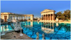 The pools of Hearst Castle.  Amazing to experience - can highly recommend a visit!
