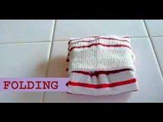 靴下のたたみ方 Konmari How to Fold Socks - YouTube