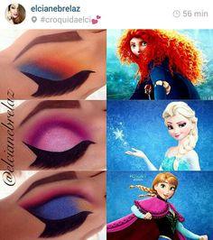 Make up by #elcianebrelaz croqui de mão, art, personagens, filmes, princesas, maquiagem