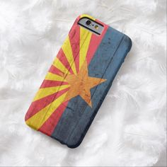Cute iPhone 6 Case! This Old Wooden Arizona Flag iPhone 6 case can be personalized or purchased as is to protect your iPhone 6 in Style!