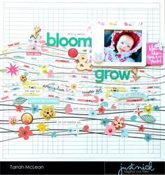Hi everyone! It's Tarrah McLean back with you today to share a new scrapbook layout...its almost Spring (yay!) here in Australia so my layout for Just Nick was