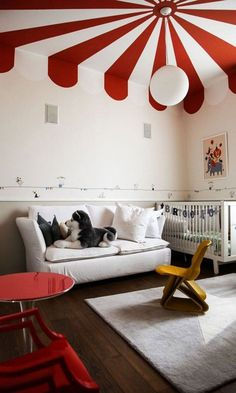 the (Big) Top: Grown-Up Circus Style at Home Circus Inspired Home Decor (for Grownups! Unique Furniture, Kids Furniture, Bedroom Furniture, Furniture Sets, Furniture Design, Airplane Room Decor, Circus Room, Circus Theme, Circus Nursery
