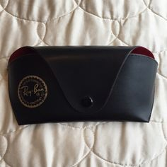 Ray ban case. Black leather outside, red lining inside. Ray ban sunglasses case. Price firm. Ray-Ban Accessories Sunglasses