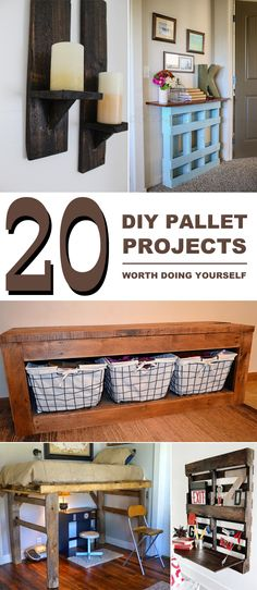 Great list of creative DIY ideas and projects to repurpose pallets into unique piece of furniture.