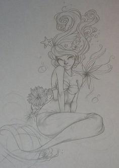 mermaid tattoo. Love this!