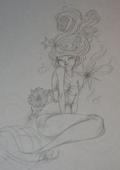 mermaid tattoo, I would definitely make some personal alterations...but I like the concept