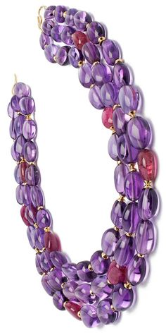 Beyond Amethyst and Rubellite necklace
