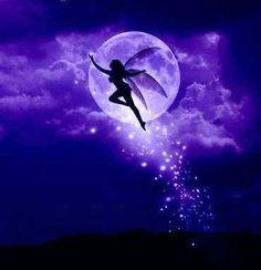 night fairy and moon