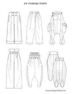 Fashion flat sketches for pants - PrestigeProDesign . Source by izalent Fashion Portfolio Layout, Fashion Design Sketchbook, Fashion Illustration Sketches, Fashion Design Drawings, Fashion Sketches, Drawing Fashion, I Love Fashion, New York Fashion, Fashion Fashion