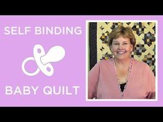 Self Binding Baby Blanket Pattern - Missouri Star Quilt Co. From Missouri Star Quilt Company Self Binding Baby Blanket, Baby Blanket Tutorial, Easy Baby Blanket, Quilt Baby, Cot Quilt, Quilting Tips, Quilting Tutorials, Msqc Tutorials, Hand Quilting