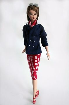 Jacket Skirt and Scarf for Barbie Doll by ChicBarbieDesigns, $27.99