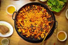 Dakgalbi or Spicy grilled chicken and vegetables recipe. – Stock Editorial Photo © rosnun.gmail.com #132852264