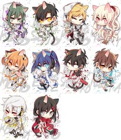 Chibi neko actors! Chibi Anime, Kawaii Anime, Anime Art, Neko, Boku No Hero Academia, Chinese Cartoon, Anime Group, Chibi Characters, Kagerou Project