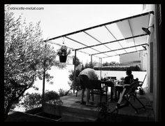 Pergola tube acier Pergola, Grenoble, Porches, Tube, Design, Decks, Home, Front Porches, Pouch