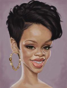 rihanna caricature - Google Search