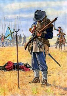 Scottish musketeer - La Pintura y la Guerra. Sursumkorda in memoriam Renaissance, Military Art, Military History, Medieval, Thirty Years' War, Early Modern Period, Landsknecht, Arm Armor, Modern Warfare