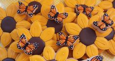 Sunflowers and Little Butterflies ~ Cookie Connection