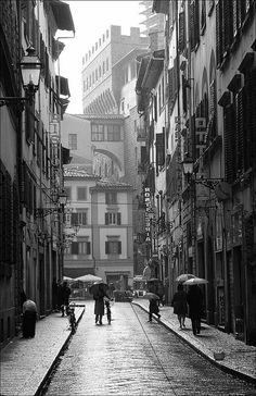 Florence in the rain, Italy
