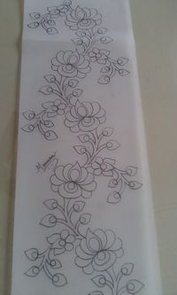 Hungarian Embroidery My art Border Embroidery Designs, Floral Embroidery Patterns, Embroidery Motifs, Ribbon Embroidery, Embroidery Kits, Machine Embroidery, Mexican Embroidery, Hungarian Embroidery, Bordado Floral