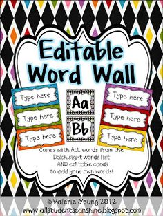 Love the editable word wall cards. Wonder if I could create this? All Students Can Shine: Classroom Decor And Organization change to music terms and print one color for each grade level Classroom Word Wall, Classroom Setup, Classroom Design, Music Classroom, Future Classroom, School Classroom, Science Classroom, Teaching Music, Teaching Tools