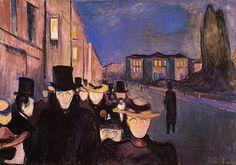 Evening On Karl Johan by Edvard Munch, 1892, oil on canvas
