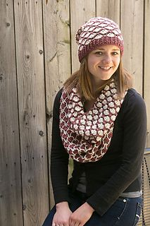 Marsala and Cream Set - crochet patterns available on Ravelry!