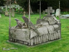 Sleep Forever. Looks like a headstone I would have.