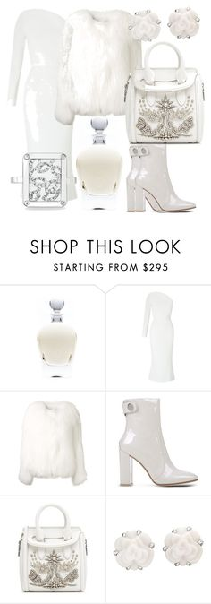 """""""Untitled #157"""" by lore8dana on Polyvore featuring EB Florals, Roland Mouret, Gianvito Rossi, Alexander McQueen and Chanel"""
