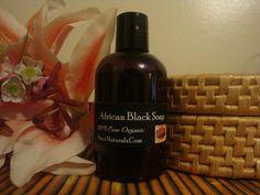 100% Pure Raw African Liquid Black Soap  (4oz) #NiasNaturals