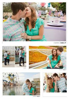 Disneyland engagement photos on the teacups, carousel, and storybook rides