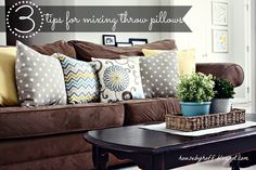 Throw pillows are the butter to my toast. They are the cream to my coffee. They are my FAVORITE way to add color, fun, and texture to my home.   Perhaps it's their relatively low cost. Perhaps it's how easy they are to switch out when I'm bored with them. For whatever reason, I LOVE …