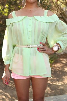 very beautiful mint summery top