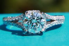 1.50 ct  Round - Split Shank- Pave. love it...all about round diamonds...want this exactly, at some point, some day