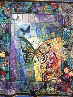 Butterflies - love it! Really good use of skinny piecing -