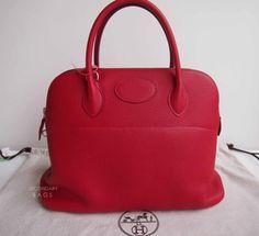 (BNIB) Hermès Bolide35 Rouge Cassaque #Q Size: 35 x 26 x 13.5cm
