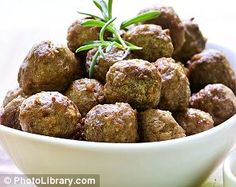 Dukan Meatballs with Rosemary  RECIPE(english) http://recipes.dailymail.co.uk/recipe/53101/dukan-meatballs-with-rosemary