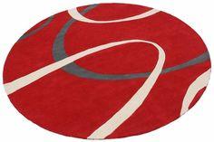 Teppich, rund, Theko exklusiv, »Nico«, handgetuftet, reine Schurwolle
