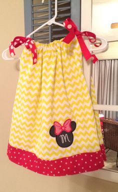 Minnie Pillowcase Dress by MonogrammingMRS on Etsy