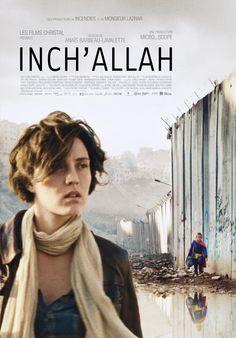 """Inch'Allah - Anaïs Barbeau-Lavalette 2012 - DVD05829 -- """"Dans la clinique de fortune d'un camp de réfugiés palestiniens en Cisjordanie, Chloé, obstétricienne québécoise, accompagne les femmes enceintes, sous la supervision de Michaël, médecin d'origine française. Entre les checkpoints & le Mur de séparation, elle rencontre la guerre & ceux qui la portent. Certains voyages bouleversent & transforment. Pour Chloé, Inch'Allah est de ces voyages-là."""""""