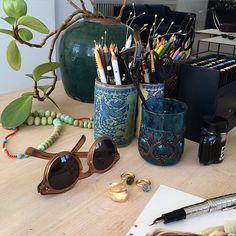 Snap from ny Working area #snap #leafcollection #lotuscollection #illesteva @olelynggaardcopenhagen #aqua