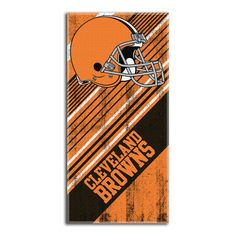 Cleveland Browns NFL Fiber Reactive Beach Towel (Diagonal Series) (28in x 58in)
