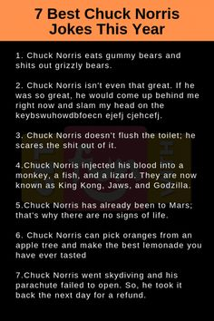 getfunwith has the best funny pics, GIFs, videos, quiz, polls and more. Check out getFunwith now! Best Chuck Norris Jokes, Chuck Norris Facts, Jokes Quotes, Funny Quotes, Funny Memes, Hilarious, Funny Jokes For Adults, Jokes For Kids, Kevin Hart