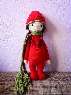 Strawberry mod made by Janny H. / crochet pattern by lalylala