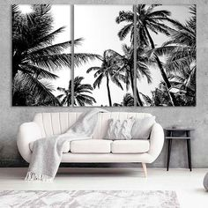 Palm Tree Art, Palm Trees, Picture Frame Inspiration, Abstract Canvas Art, Canvas Canvas, Vinyl Decor, Marble Art, Extra Large Wall Art, Artwork Prints