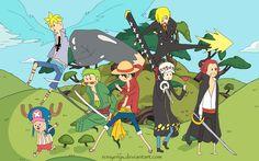 One Piece Adventure Time Style by RonyeryX.deviantart.com on @deviantART