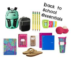 """""""Back to School"""" by daniellehaldren on Polyvore featuring Lilly Pulitzer, Eos, Vineyard Vines and The North Face"""