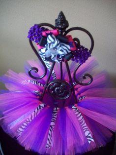 Super cute  pink and purple tutu with a touch of zebra print