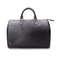 Louis Vuitton Speedy 30 Epi Small bags Black Leather M59022