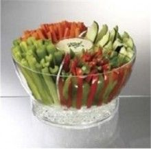 Prodyne Acrylic Cold Appetizer Divider Insert Bowl On Ice Serveware - Furniture - Home and Patio Decor Center