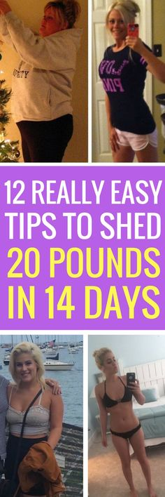12 ways to lose 20 pounds in 14 days.